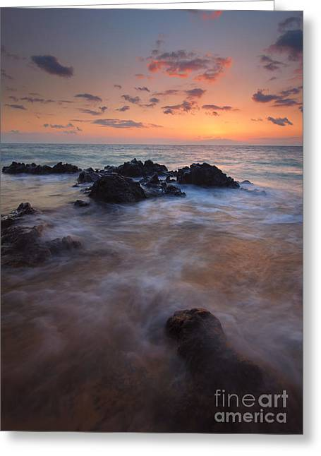 Engulfed By The Waves Greeting Card by Mike  Dawson