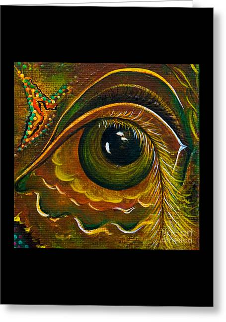 Enigma Spirit Eye Greeting Card