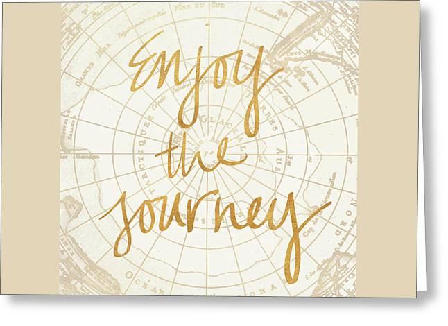 Enjoy The Journey Greeting Card by Elizabeth Medley