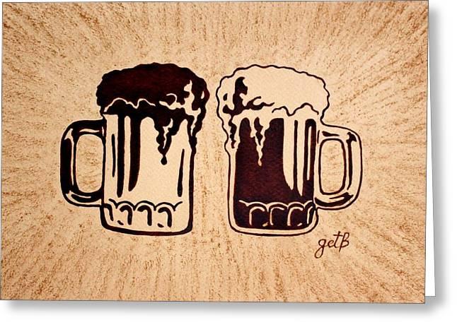 Enjoying Beer Greeting Card