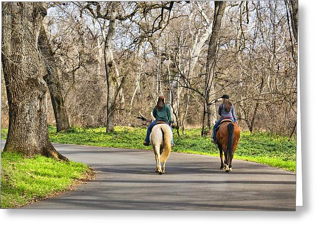 Enjoying The Scenery In Bidwell Park Greeting Card