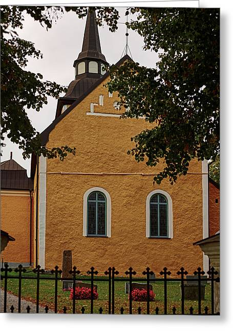 enkoepingsnaes church from east Db Greeting Card
