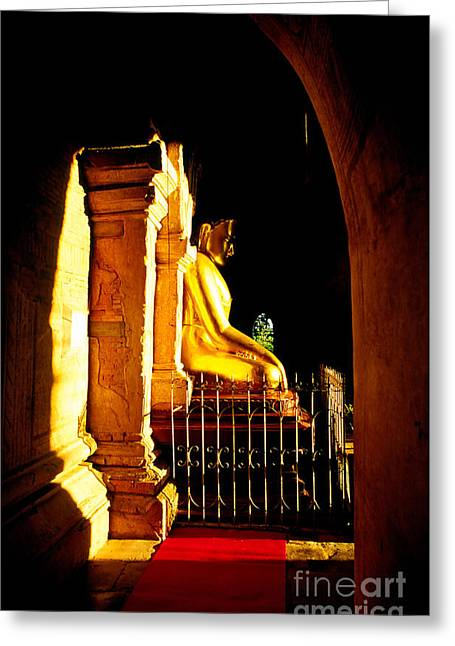Enlightened Buddha - Myanmar Greeting Card by Luciano Mortula