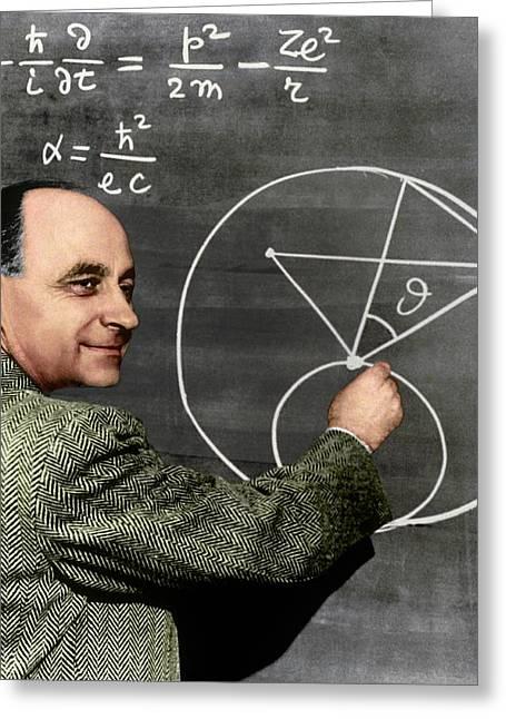 Enrico Fermi Greeting Card by Sheila Terry