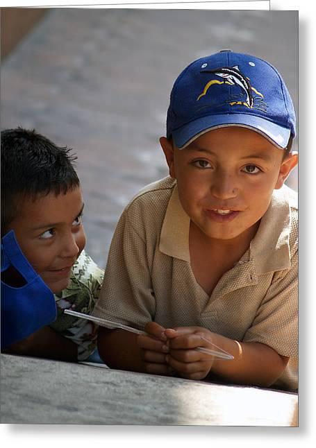 Ensenada Boys 07 Greeting Card