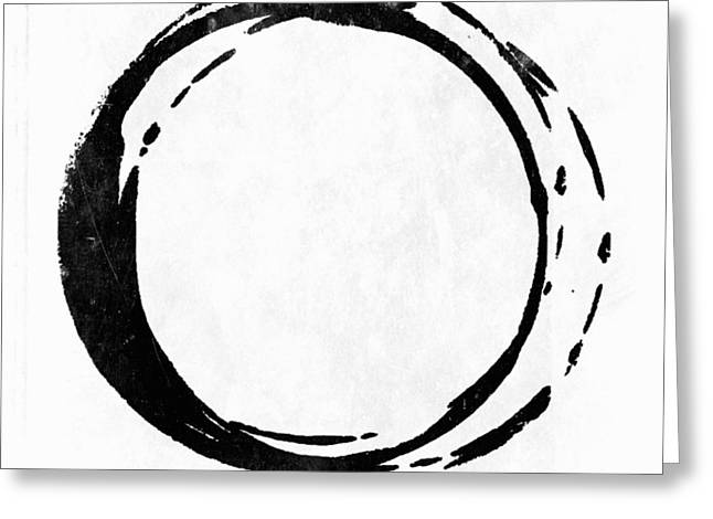 Enso No. 107 Black On White Greeting Card
