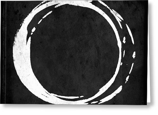 Enso No. 107 White On Black Greeting Card