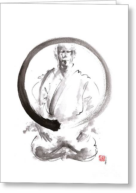Enso. Zen Circle Martial Arts. Greeting Card by Mariusz Szmerdt