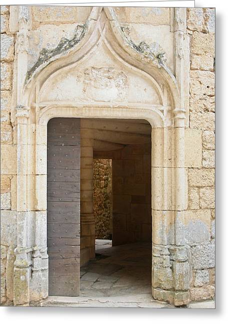 Enter The Castle Door Greeting Card