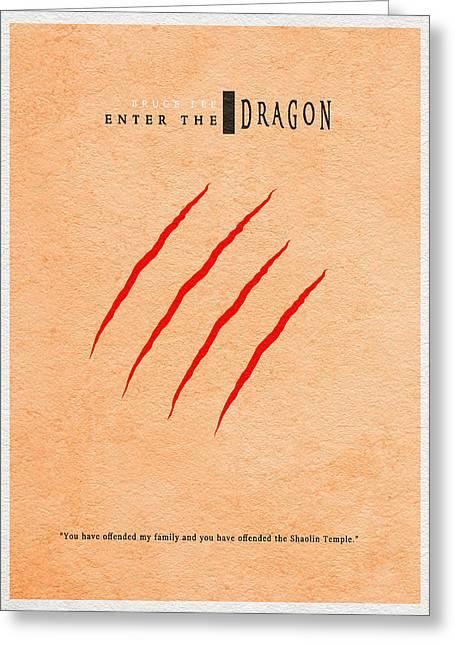 Enter The Dragon Greeting Card by Ayse Deniz
