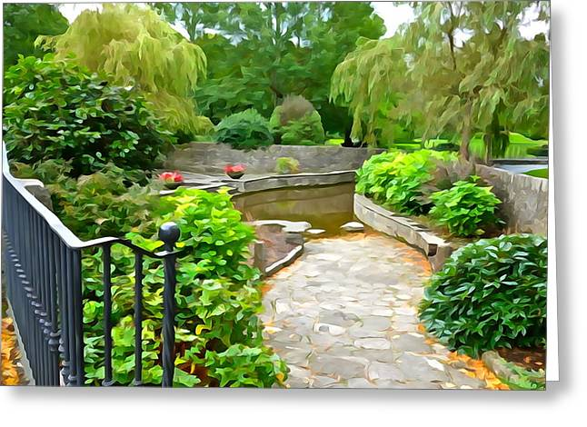 Enter The Garden Greeting Card by Charlie and Norma Brock