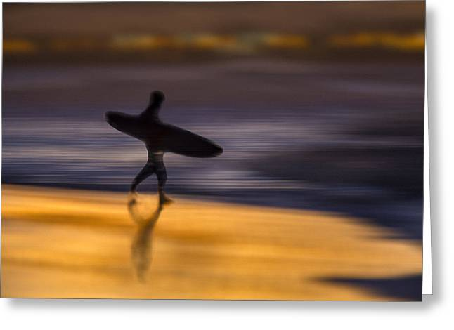 Greeting Card featuring the photograph Enter The Surf  73a0146 by David Orias