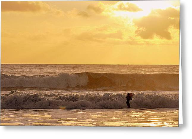 Enter The Surfer Greeting Card
