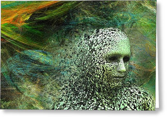 Entering A New Dimension Greeting Card by Michael Durst