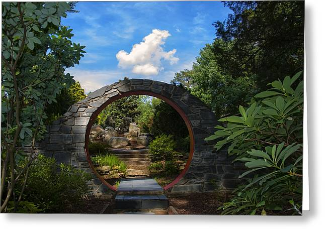 Entering The Garden Gate Greeting Card