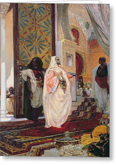 Entering The Harem Greeting Card by Georges Clairin