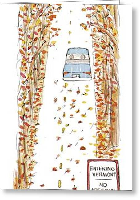 Entering Vermont Greeting Card