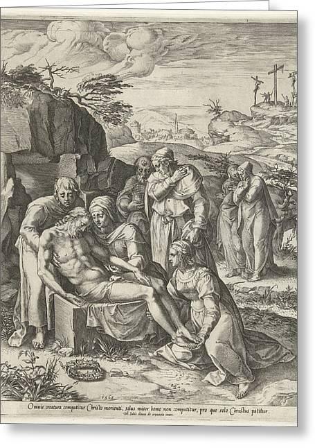 Entombment Of Christ, Cornelis Cort Greeting Card