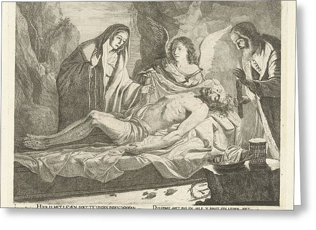 Entombment Of Christ, Guillaume Duvivier 17e Eeuw Greeting Card