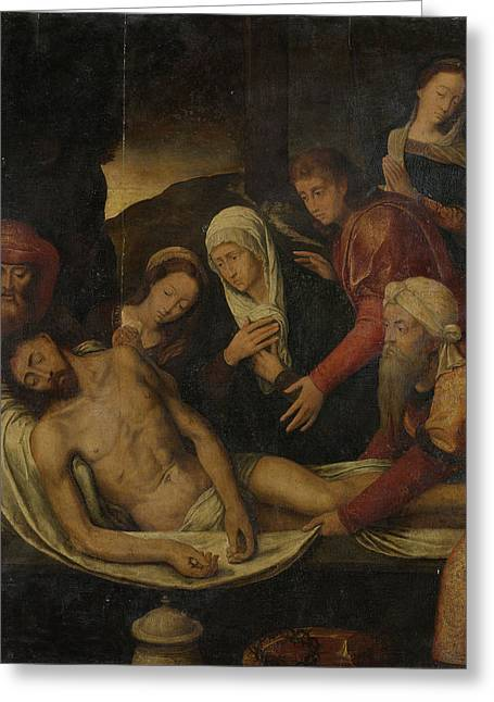 Entombment Of Christ With Joseph Of Arimathea And Nicodemus Greeting Card by Litz Collection