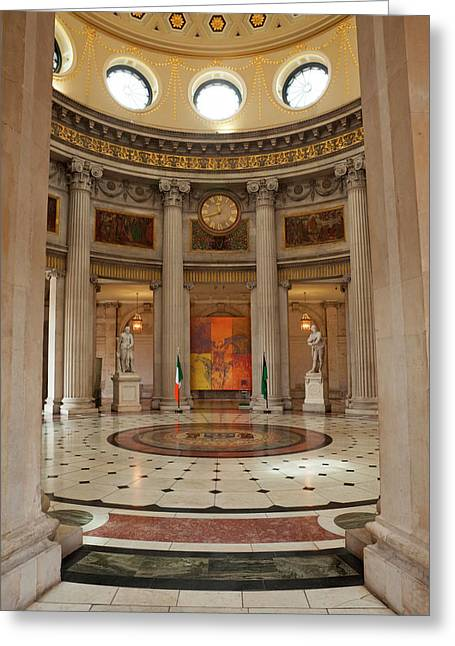 Entrance Hall In City Hall, Opened Greeting Card