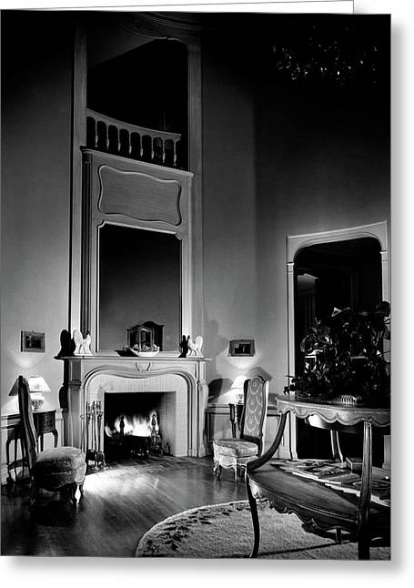 Entrance Hall Of Joan Bennett And Walter Wagner's Greeting Card