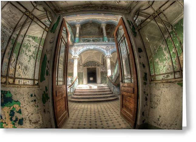 Entrance Of Beauty Greeting Card by Nathan Wright