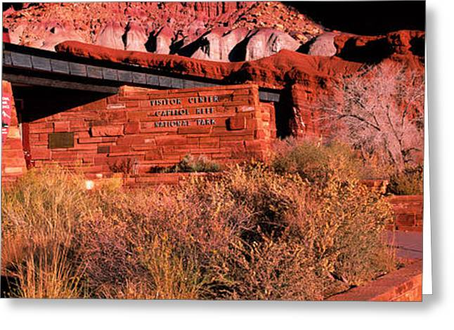 Entrance Of Capitol Reef National Park Greeting Card by Panoramic Images