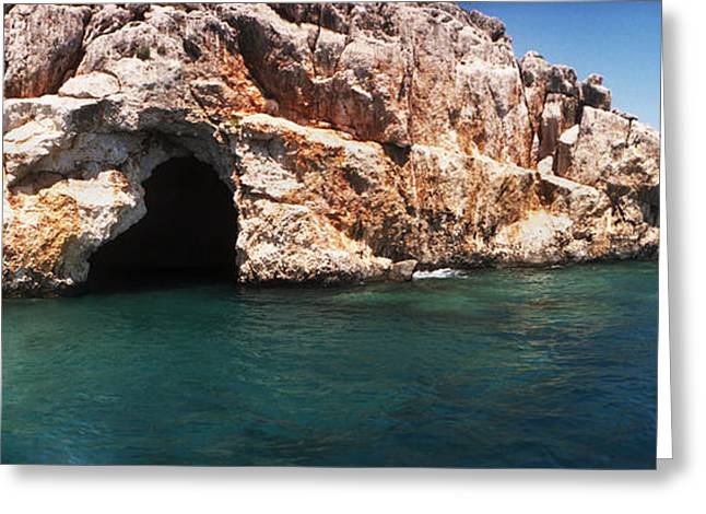 Entrance Of The Pirates Cave Greeting Card by Panoramic Images