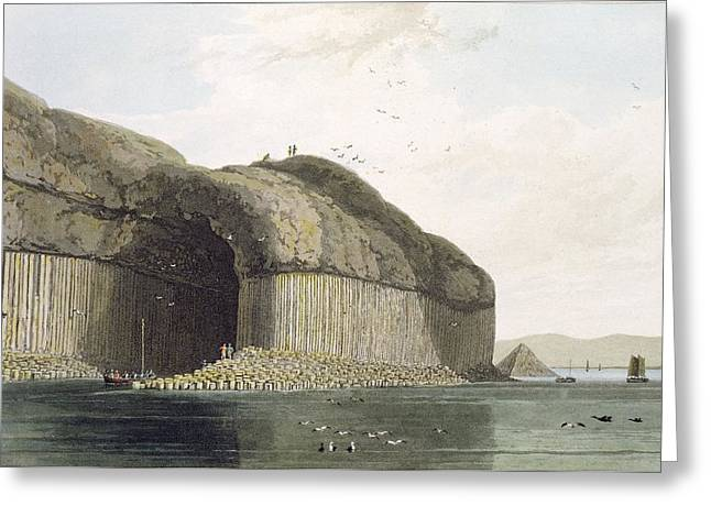 Entrance To Fingals Cave, Staffa Greeting Card by William Daniell