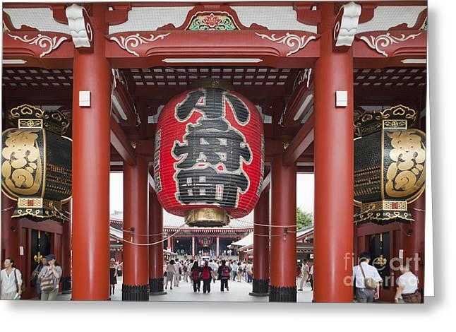Entrance To Senso-ji Temple Greeting Card
