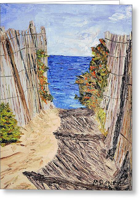 Entrance To Summer Greeting Card by Michael Daniels