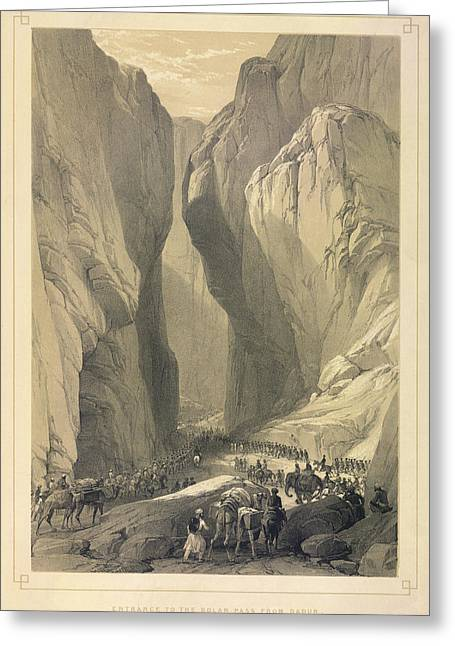 Entrance To The Bolan Pass Greeting Card