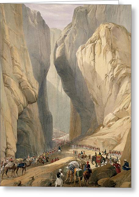 Entrance To The Bolan Pass From Dadur Greeting Card by James Atkinson