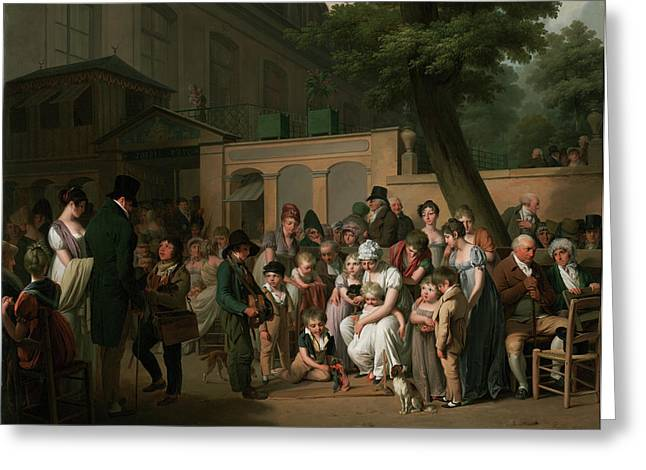 Entrance To The Jardin Turc Louis-léopold Boilly Greeting Card