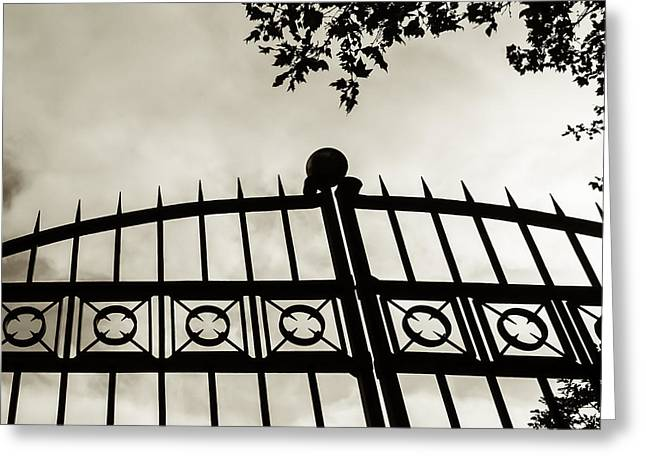 Greeting Card featuring the photograph Entrances To Exits - Gates by Steven Milner