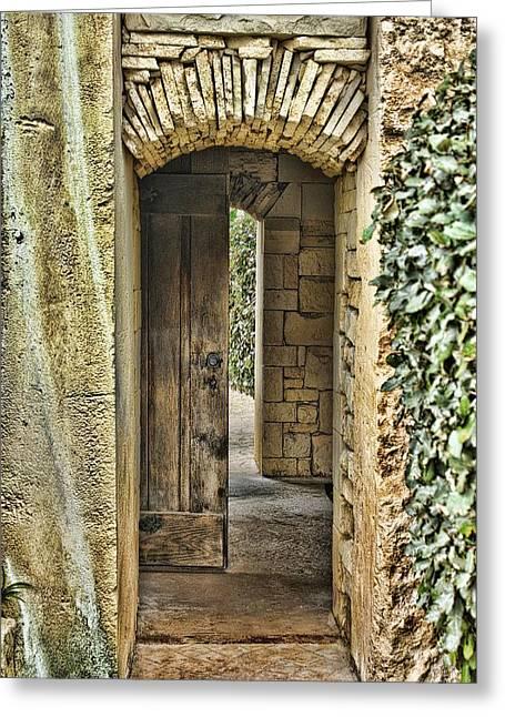 Entrancing Entrance Greeting Card by Delilah Downs