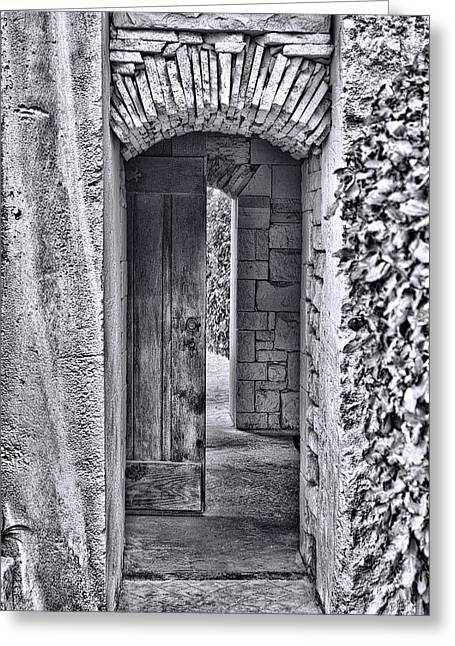 Entrancing Entrance In Monochrome Greeting Card by Delilah Downs