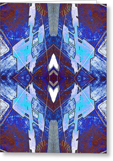 Entropic Four Way Pairs 2013 Greeting Card