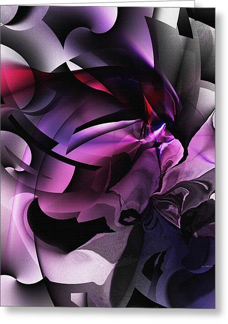 Entropy In Purple Greeting Card by David Lane