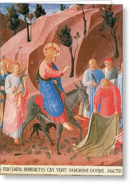 Entry Into Jerusalem Greeting Card