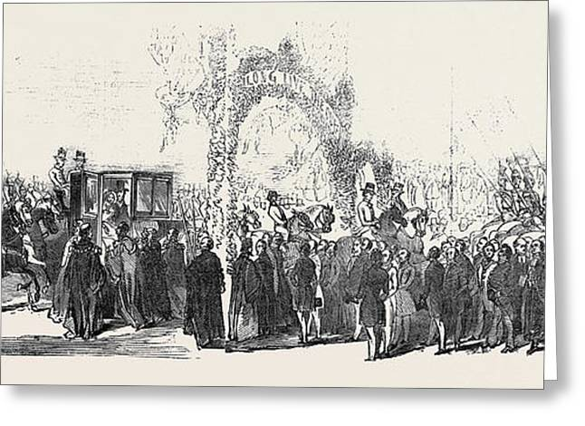 Entry Into Stamford Greeting Card