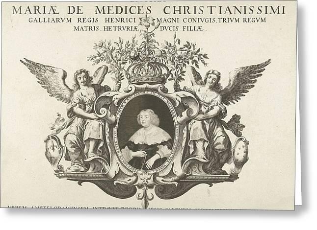 Entry Of Maria De Medici In Amsterdam Portrait Greeting Card