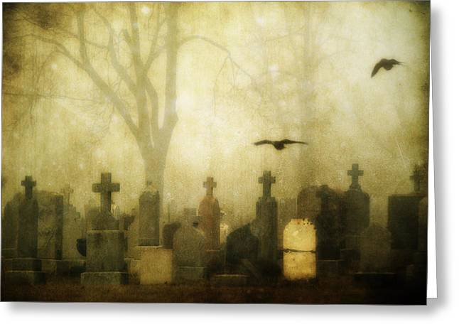 Enveloped By Fog Greeting Card by Gothicrow Images