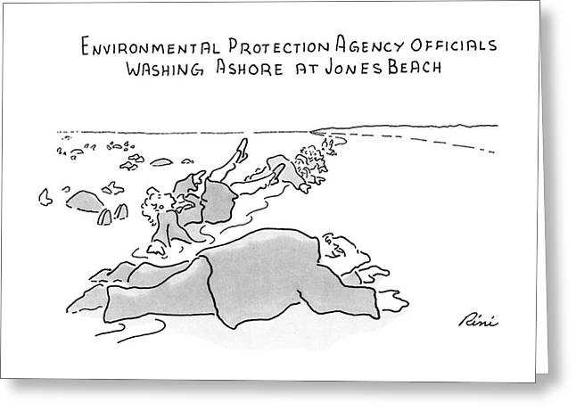 Environmental Prodection Agency Officials Washing Greeting Card by J.P. Rini