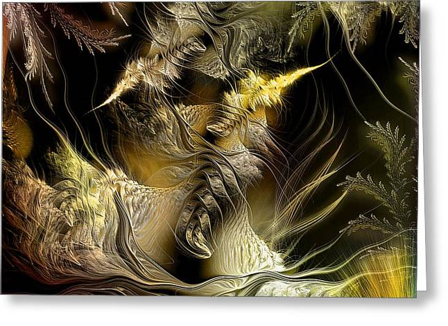 Greeting Card featuring the digital art Environmental Transitions 5 by Casey Kotas