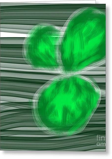 Envy Clover Lips Greeting Card by James Eye
