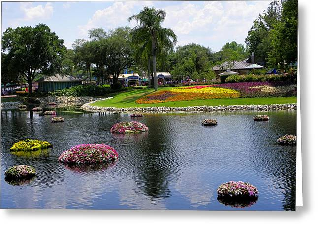 Epcot Center Flower Festival 1 Greeting Card by Judy Wanamaker