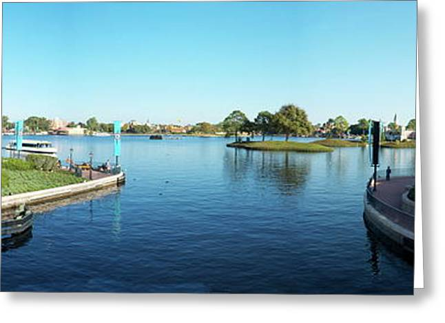 Epcot World Showcase Lagoon Panorama 05 Walt Disney World Greeting Card by Thomas Woolworth