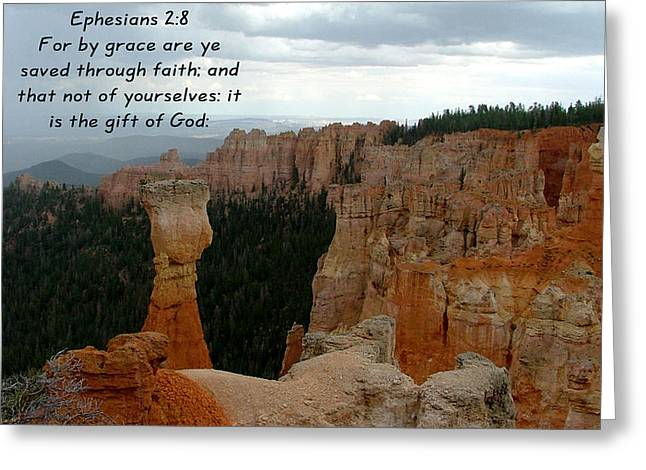 Bryce N P. Eph 2-8 Greeting Card by Nelson Skinner